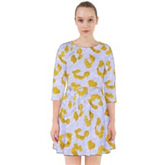 Skin5 White Marble & Yellow Marble Smock Dress