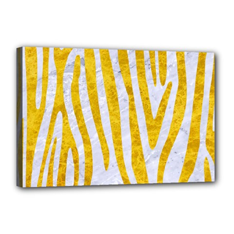 Skin4 White Marble & Yellow Marble Canvas 18  X 12  by trendistuff