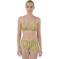 Skin4 White Marble & Yellow Marble Women s Sports Set