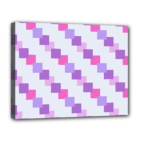 Geometric Squares Canvas 14  X 11  by snowwhitegirl