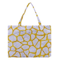 Skin1 White Marble & Yellow Marble Medium Tote Bag by trendistuff