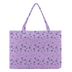Heart Drops Violet Medium Tote Bag by snowwhitegirl
