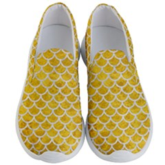 Scales1 White Marble & Yellow Marble Men s Lightweight Slip Ons