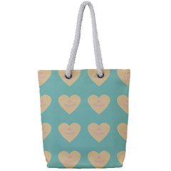 Teal Cupcakes Full Print Rope Handle Tote (small) by snowwhitegirl