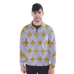 Royal1 White Marble & Yellow Marble Wind Breaker (men)