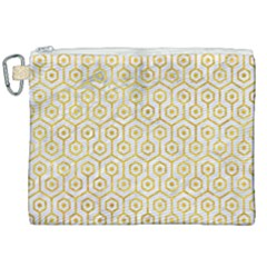 Hexagon1 White Marble & Yellow Marble (r) Canvas Cosmetic Bag (xxl) by trendistuff