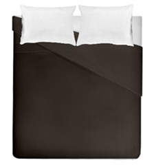 Dark Brown Duvet Cover Double Side (queen Size) by snowwhitegirl