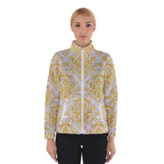 Damask1 White Marble & Yellow Marble (r) Winterwear