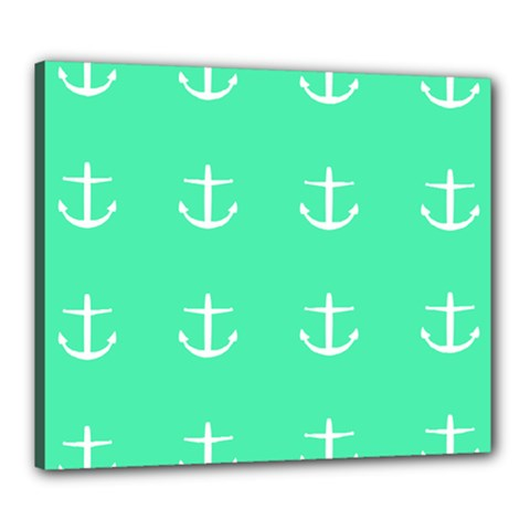 Seafoam Anchors Canvas 24  X 20  by snowwhitegirl