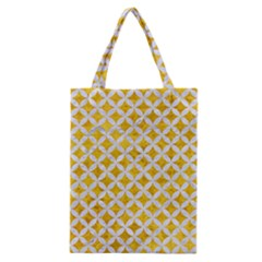 Circles3 White Marble & Yellow Marble Classic Tote Bag