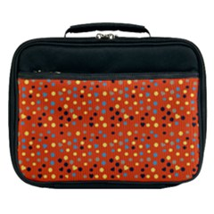 Red Retro Dots Lunch Bag by snowwhitegirl