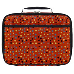 Red Retro Dots Full Print Lunch Bag by snowwhitegirl