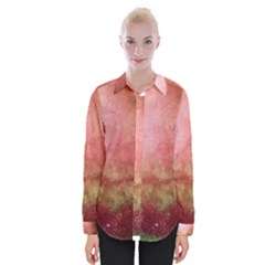 Galaxy Red Womens Long Sleeve Shirt by snowwhitegirl