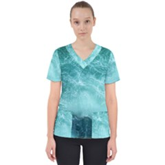 Green Ocean Splash Scrub Top by snowwhitegirl
