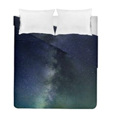 Galaxy Sky Duvet Cover Double Side (full/ Double Size) by snowwhitegirl