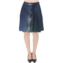 Galaxy Sky Velvet High Waist Skirt by snowwhitegirl