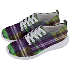 Neon Green Plaid Flannel Men s Lightweight Sports Shoes by snowwhitegirl