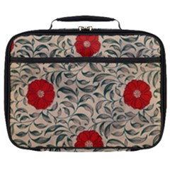 Japanese Floral Red Full Print Lunch Bag by snowwhitegirl