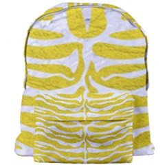 Skin2 White Marble & Yellow Leather Giant Full Print Backpack by trendistuff