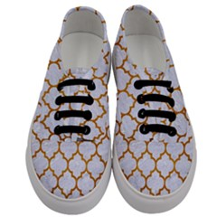 Tile1 White Marble & Yellow Grunge (r) Men s Classic Low Top Sneakers