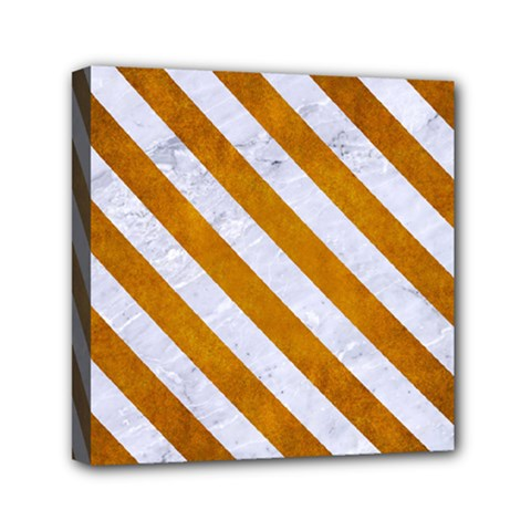 Stripes3 White Marble & Yellow Grunge Canvas Travel Bag by trendistuff