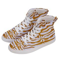 Skin2 White Marble & Yellow Grunge (r) Men s Hi Top Skate Sneakers by trendistuff