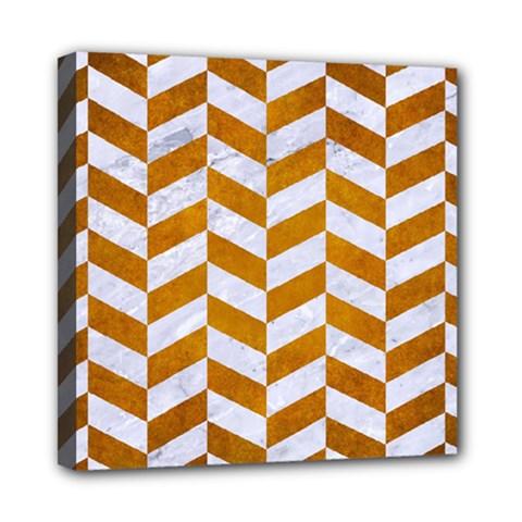 Chevron1 White Marble & Yellow Grunge Multi Function Bag by trendistuff
