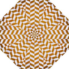 Chevron1 White Marble & Yellow Grunge Straight Umbrellas by trendistuff