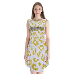 Skin5 White Marble & Yellow Denim Sleeveless Chiffon Dress
