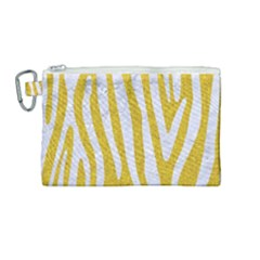 Skin4 White Marble & Yellow Denim (r)skin4 White Marble & Yellow Denim (r) Canvas Cosmetic Bag (medium) by trendistuff