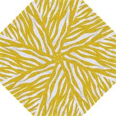 Skin3 White Marble & Yellow Denim Hook Handle Umbrellas (large) by trendistuff