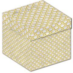 SCALES2 WHITE MARBLE & YELLOW DENIM (R) Storage Stool 12