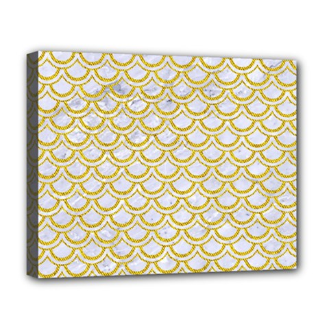 SCALES2 WHITE MARBLE & YELLOW DENIM (R) Deluxe Canvas 20  x 16