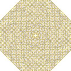 SCALES2 WHITE MARBLE & YELLOW DENIM (R) Hook Handle Umbrellas (Medium)