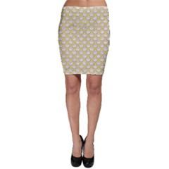 SCALES2 WHITE MARBLE & YELLOW DENIM (R) Bodycon Skirt