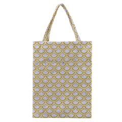 SCALES2 WHITE MARBLE & YELLOW DENIM (R) Classic Tote Bag