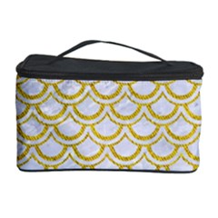 SCALES2 WHITE MARBLE & YELLOW DENIM (R) Cosmetic Storage Case