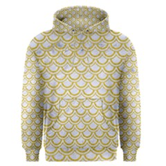 SCALES2 WHITE MARBLE & YELLOW DENIM (R) Men s Pullover Hoodie