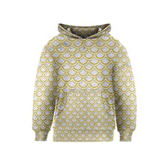 SCALES2 WHITE MARBLE & YELLOW DENIM (R) Kids  Pullover Hoodie