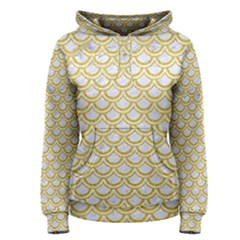 SCALES2 WHITE MARBLE & YELLOW DENIM (R) Women s Pullover Hoodie