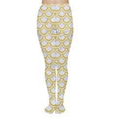 SCALES2 WHITE MARBLE & YELLOW DENIM (R) Women s Tights