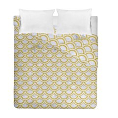 SCALES2 WHITE MARBLE & YELLOW DENIM (R) Duvet Cover Double Side (Full/ Double Size)