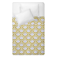 SCALES2 WHITE MARBLE & YELLOW DENIM (R) Duvet Cover Double Side (Single Size)