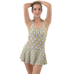 SCALES2 WHITE MARBLE & YELLOW DENIM (R) Swimsuit