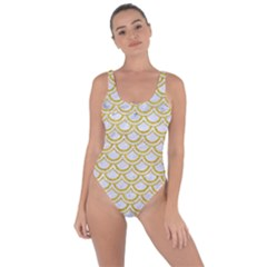 SCALES2 WHITE MARBLE & YELLOW DENIM (R) Bring Sexy Back Swimsuit
