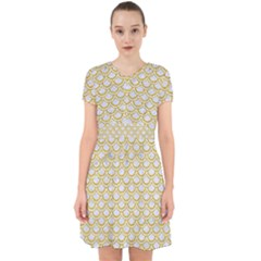 SCALES2 WHITE MARBLE & YELLOW DENIM (R) Adorable in Chiffon Dress