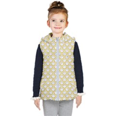 SCALES2 WHITE MARBLE & YELLOW DENIM (R) Kid s Puffer Vest