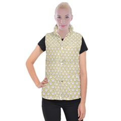 SCALES2 WHITE MARBLE & YELLOW DENIM (R) Women s Button Up Vest