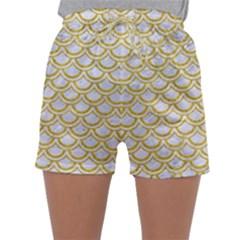 SCALES2 WHITE MARBLE & YELLOW DENIM (R) Sleepwear Shorts