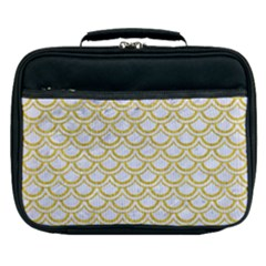SCALES2 WHITE MARBLE & YELLOW DENIM (R) Lunch Bag
